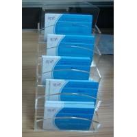 Buy cheap 3mm Custom Acrylic Stationery Holder  / Plastic Multiple Desktop Business Card Holders from wholesalers