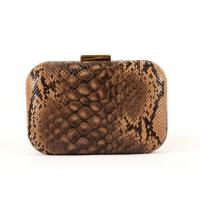 Buy cheap Pu Leather Black And Gold Clutch Bag Rectangle Closure For Dinner Party from wholesalers