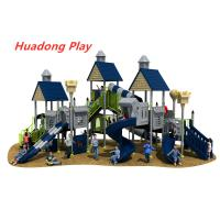 China Villa Series Outdoor Playground Slide Include Exotic Architecture on sale