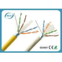 High Speed Yellow Cat6 LAN Cable With F / UTP – Foiled Shielded 1000 FT