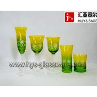 Buy cheap Engraved flute glasses, wine glasses, tumblers, sprayed two-color 2014 new designs from wholesalers