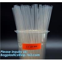 Buy cheap PLA drinking straws made of cornstarch, 100% biodegradable , protecting environment will substitute traditional polyprop from wholesalers