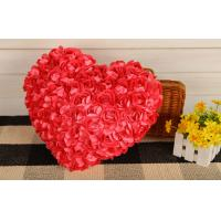 Creative Heart shape pillow rose flower design heart cusion doll great gift 35cm red Manufactures
