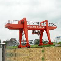 Buy cheap 20 Ton 30 Ton Adjustable Portable Gantry Crane Large Span Wireless Control from wholesalers