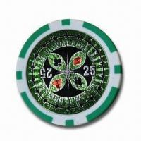 Buy cheap Poker Chip, Made of PS, ABS or Clay from wholesalers