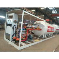 China Skid Mounted LPG Gas Tank For Mobile LPG Filling Stations With  Digital Scales on sale