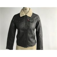 Wholesale Comfortable Ladies PU Jacket With Sherpa Collar Button Through LEDO1713 from china suppliers