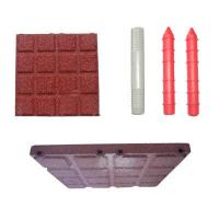 China Children Playground Rubber Safety Tile Mats , Rubber Surfacing For Playgrounds on sale