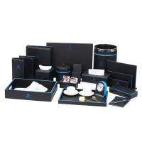 Buy cheap Fire resistance black/ blue pu tissue box hotel room supplies from wholesalers