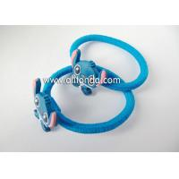 Wholesale Custom lovely blue cute hair bands with rabbits dogs animal shape flexible hair bands for children little baby from china suppliers