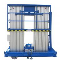 Wholesale Insulative 12 Meters Lifting Height Quadruple Mast Aerial Work Platform 300Kg Load from china suppliers