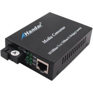 Buy cheap IP30  Single-Mode SC Type  Fiber  Ethernet media converter 1310/1550nm from wholesalers