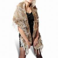 Buy cheap Knitting Rabbit Fur Scarf, Various Patterns are Available from wholesalers