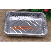 Buy cheap extra-large disposable rectangle aluminium foil deli tray food foil container for takeaway food foil containers with lid from wholesalers