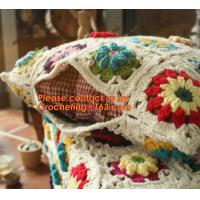 Buy cheap 100% Cotton HandMade Crochet Cushion Cover Pillow Cover 25* 45cm Hand Crochet knitting Pas from wholesalers