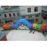 Buy cheap Various colors 0.55mm PVC Tarpaulin Train Attractive Inflatable Sports Tunnel from wholesalers