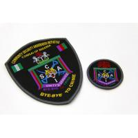 Buy cheap Handmade Custom  Shape Merrowed Edge Woven Patches Heat Seal Backing from wholesalers