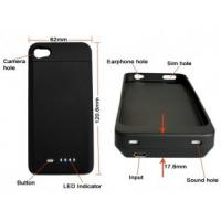 Buy cheap 1700Mah Capacity IPhone 4 Extender Battery Case With Short Circuit Protection For IPhone 4 from wholesalers