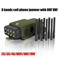 Wholesale 5.5W High Frequency Jammer 8 Antenna , Portable Cell Phone Jammer With Nylon Case Lojack from china suppliers