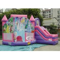 Wholesale 6x5m Commercial Kids Party Inflatable Princess Bouncy Castles With Slide From Sino Inflatables from china suppliers