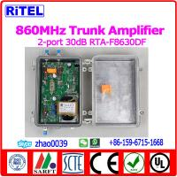 Buy cheap 860MHz 2-PORT OUTPUT 30dB gain CATV/MATV Trunk Amplifier/Booster RTA-F8630DF with ATT, EQ from wholesalers