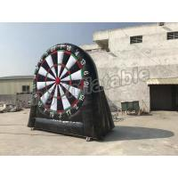 Buy cheap Giant Inflatable Football Dart Board Outdoor Sports Games Black And White Color from wholesalers
