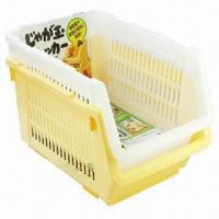 Buy cheap Household Plastic Storage Baskets, Stackable, Made of PP from wholesalers
