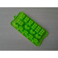 Buy cheap Custom Made Shaped Silicone Chocolate Mould With Green / Chocolate Color from wholesalers