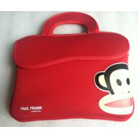 Wholesale Red Soft Neoprene Laptop Tote , 10 Inch Foam Printing Paul Frank Bag from china suppliers