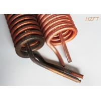 Buy cheap Copper or Copper Nickel Finned Tube Coil as Refrigeration Condenser / Refrigeration Evaporator from wholesalers