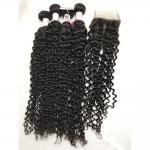 Buy cheap 100% Brazilian Virgin Hair Natural Curly Human Hair Cuticle Aligned Hair Bundles from wholesalers