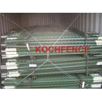 Buy cheap Studded 6ft Green Painted Use Steel Fence Posts For Wood Fences / Garden Decoration from wholesalers