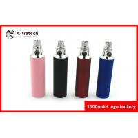 Big Capacity Portable Ego Cigarette Battery 1500mah Colorful Batteries Manufactures