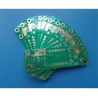 Buy cheap RO4350B 30 mil Double Sided PCB 1oz Copper Immersion Gold and green soldermask from wholesalers