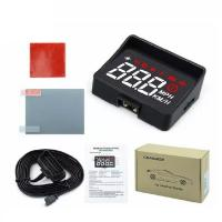 Buy cheap For Safety HUD Display Intelligent Alarm System Universal A100S Windshield Projector Driving Safety OBD2 Overspeed Warni from wholesalers