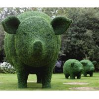 Wholesale Plastic Boxwood Pig Topiary Garden Sculpture Made of Artificial Grass Mats from china suppliers