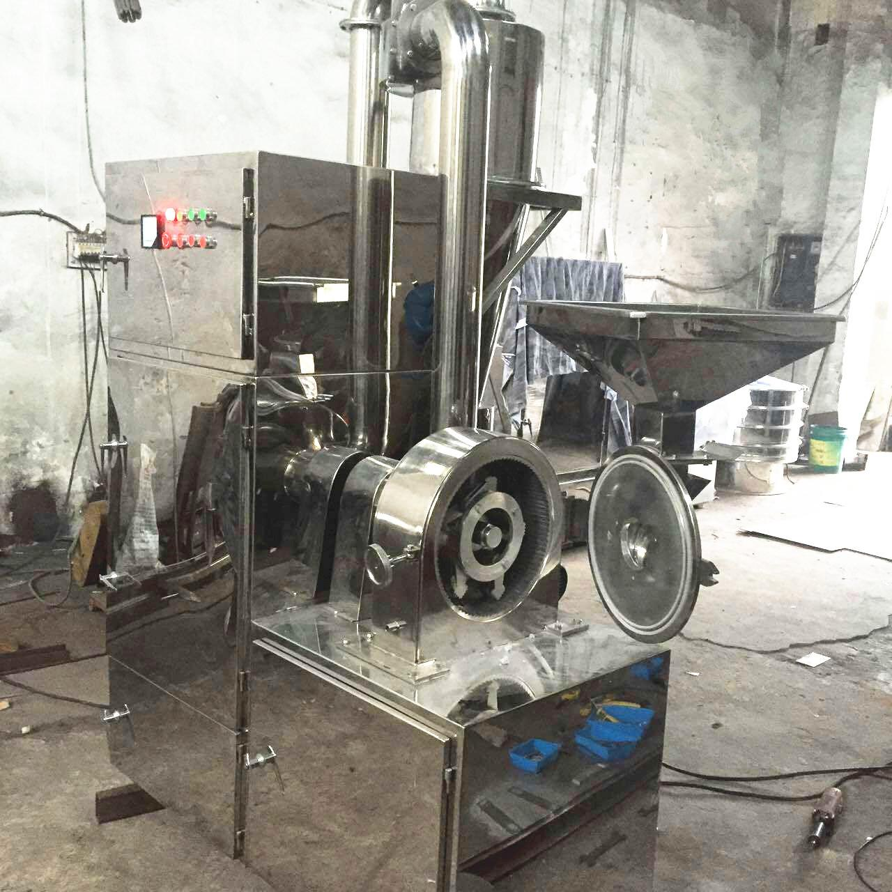 Automatic Powder Crusher Machine High Capacity For Herbal Powder Making Manufactures
