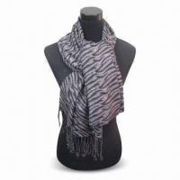 Wholesale Jacquard Women's Scarf, Made of 100% Viscose, Measures 178 x 68 and 10 x 2cm from china suppliers