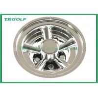 Buy cheap 8 Inch Golf Cart Wheel Covers SS 5 Spoke Hub Caps For Steel Wheels 330g from wholesalers