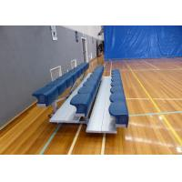 Buy cheap Aluminum Movable Stadium Seating , Metal Bleacher Seats With Rubber Foot Pads from wholesalers