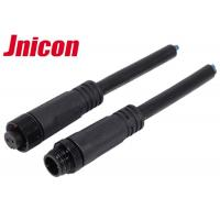 Wholesale Jnicon M12 Waterproof Wire Connectors , Waterproof 2 Pin Male Cable Connector from china suppliers