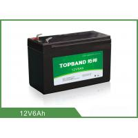 Buy cheap Light Weight Deep Cycle Lithium Battery 12V 6Ah With Black Plastic Case from wholesalers