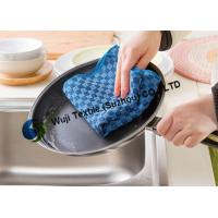 Buy cheap Soft Check Pattern Microfiber Kitchen Cleaning for Household Cleaning 25*50 cm from wholesalers