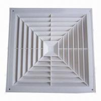 Buy cheap Air diffuser, made of high quality aluminum, anodized square-shaped, easy installation from wholesalers