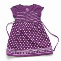 Buy cheap Girls Skirt, Made of 100% Cotton, Short Sleeves from wholesalers