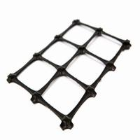 Buy cheap Plastic High Density PE Geogrid Mesh / Soil Stabilization Grid For Gravel Driveway from wholesalers