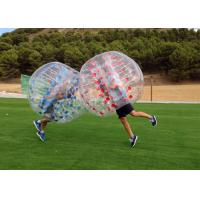 Buy cheap Airtight PVC And TPU Transparent Inflatable Human Bumper Soccer Bubble Football Ball With Pump from wholesalers