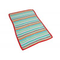 Buy cheap Colorful Crochet Striped Baby Blanket , Knitted Wool Blanket Antibacterial from wholesalers