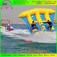 Wholesale Free Shipping 0.9mm PVC Tarpaulin 4 Person Inflatable Flying Fish Boat For Surfing from china suppliers