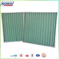 Buy cheap G4 Gas Turbine HVAC Disposable Pleated Panel Pre Air Filters Primary Synthetic Fiber from wholesalers